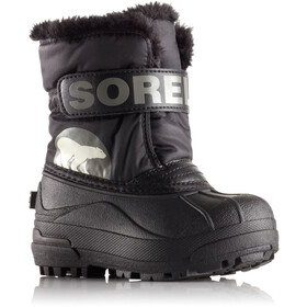"""Sorel Toddlers Snow Commander Boots Black/Charcoal"""